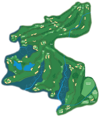 El Rompido North Golf Course map