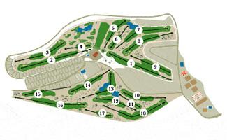 Alenda Golf Course map