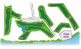 Los Moriscos Club Golf Course map