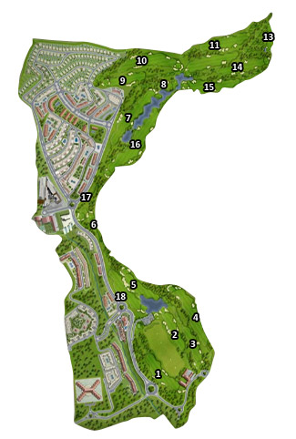 Medina Elvira Club Golf Course map