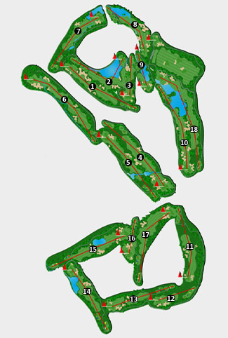 El Puerto Golf Course map