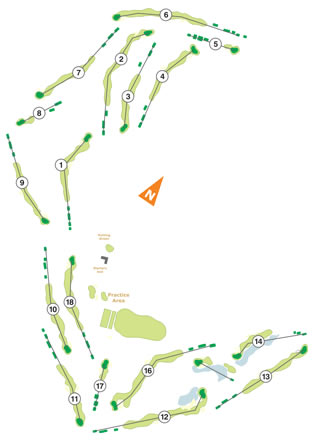 Ribagolfe I Golf Course map