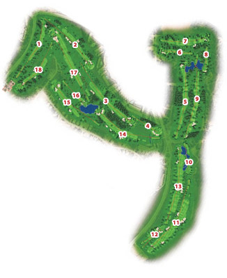 SanctiPetri Centro Nuevo Golf Course map