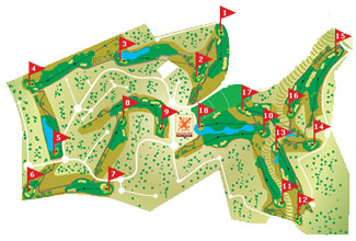 Macenas course Golf Course map