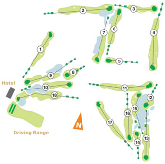 Aroeira II Golf Course map