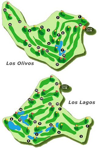Mijas internatioal Los Olivos Golf Course map