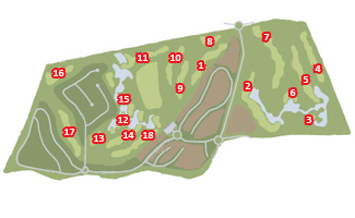 Portugal Golf CoursesRoyal Obidos Scorecard Course Map - Portugal map obidos