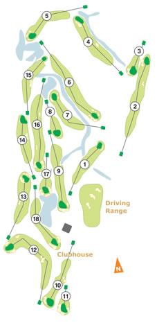 Golfe do Montado Course Map