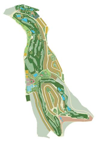 El Cortijo Club de Campo Golf Course map