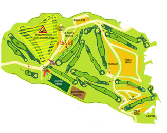 Amarilla & Country Club Golf Course map