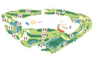 Las Américas Golf Course map