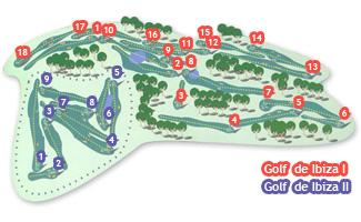 de Ibiza II Roca Llisa Golf Course map