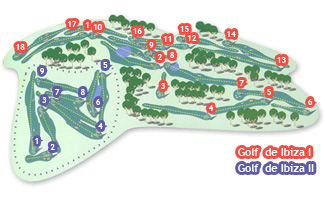 de Ibiza I Golf Course map