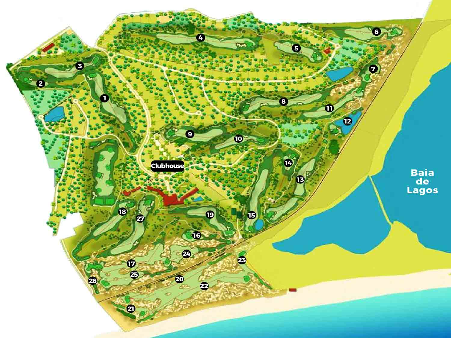 Portugal Golf CoursesPalmares Golf Course Scorecard Course Map - Portugal golf map