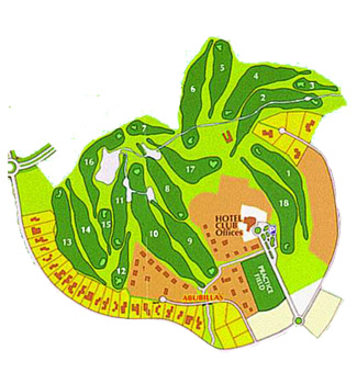 Santa Ponsa I Golf Course map