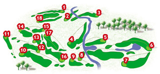 Pula Golf Course map