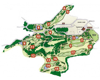 Son Parc Menorca Golf Course map