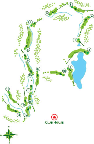 Alamos Golf course Course Map