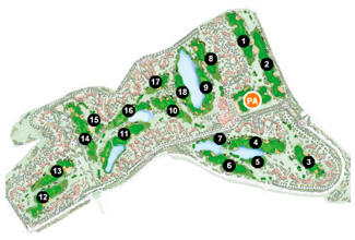 Hacienda Riquelme Resort Golf Course map
