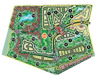 Mar Menor Golf Course map