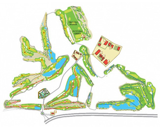 Mosa Trajectum Pine Golf Course map