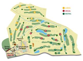 La Sella Golf Course map