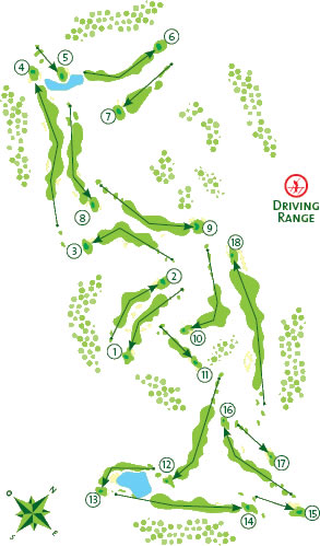 Course Map Vale da Pinta Golf Course