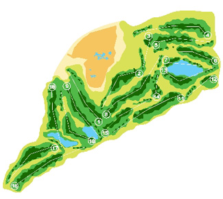 Villaitana Levante Golf Course map