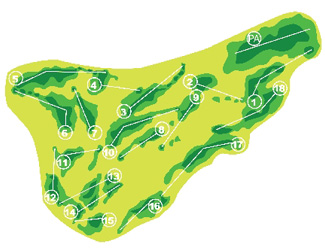 Villaitana Poniente Golf Course map