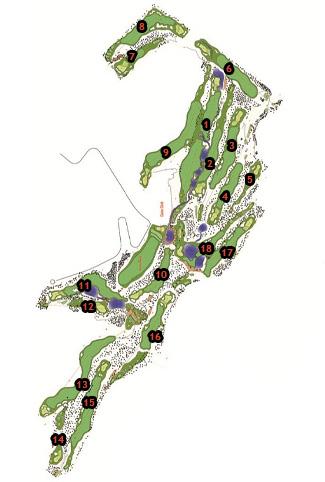 La Galiana Golf Course map