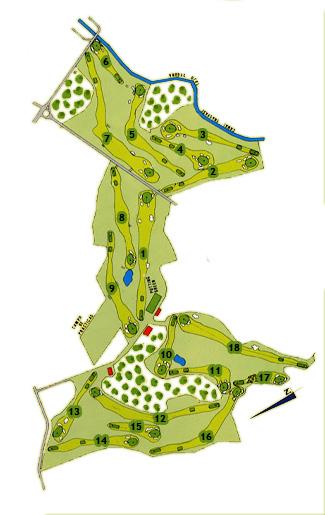 Campoamor Golf Course map