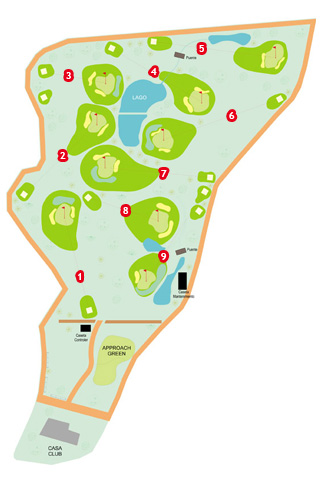 Cofrentes Golf Course map
