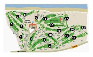 El Saler Parador Golf Course map