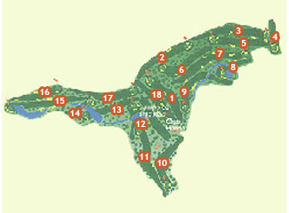 El Bosque & Country Club Golf Course map