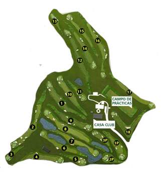 Caldes International Golf Course map