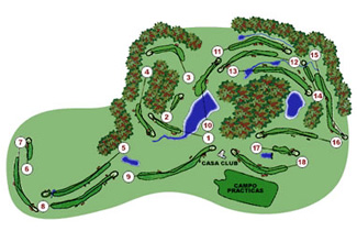 Osona Montanya Golf Course map