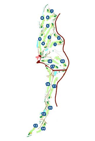Vallromanes Golf Course map