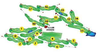 Girona Golf Course map