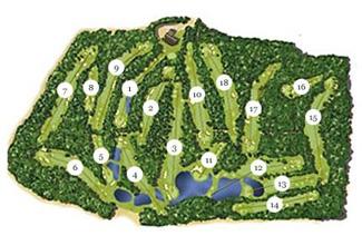P.G.A. Catalunya - Stadium Golf Course map