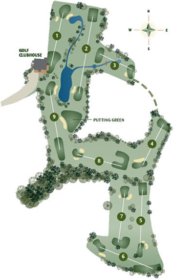 Vale do Milho Par 3 Course Map