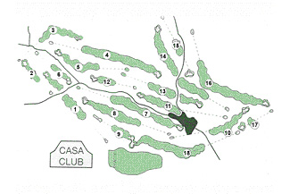 Aravell Andorra Golf Course map