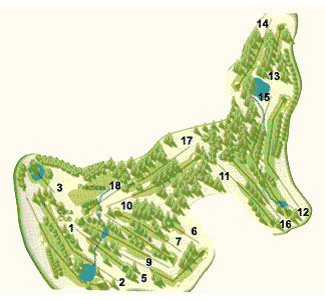Costa Dorada Tarragona Golf Course map
