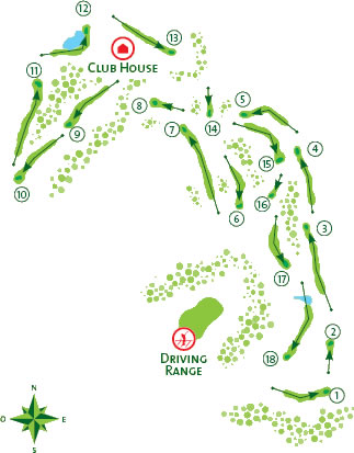 Course Map Quinta do Lago North