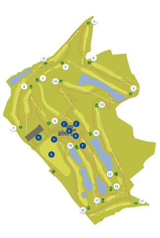 Retamares Casino Club Golf Course map