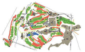 Madrid Federation Golf Course map