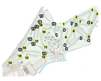 Villa de Madrid yellow Golf Course map