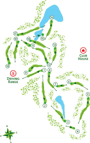 Quinta Do Lago South Golf Course Course Map Score Card - Portugal golf map