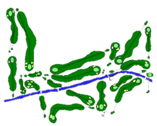 La Base Aerea de Torrejón Golf Course map
