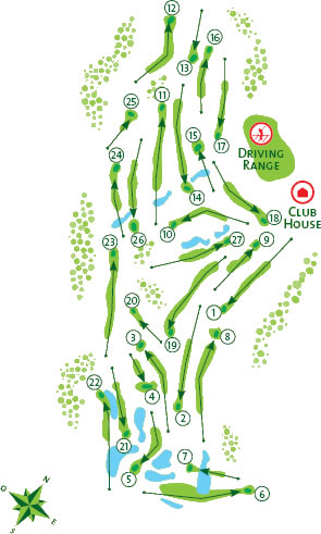 Vila Sol Course Map