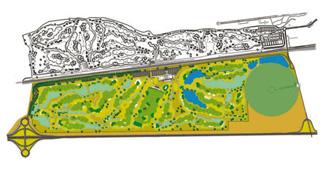 El Encin Golf Course map